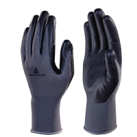 DELTAPLUS VE722 FOAM NITRILE PALM GLOVES - BLACK/GREY - SIZE 8