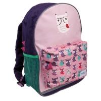 Školský batoh, stredná veľkosť, motív: sovy