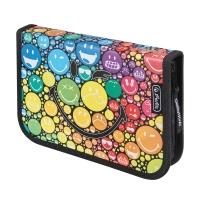 Herlitz Rainbow töltött tolltartó, 1 kihajtható résszel, 19 részes