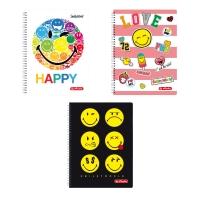 Herlitz SmileyWorld spirál jegyzetfüzet A4/70 vonalas, vegyes, 5 db/csomag